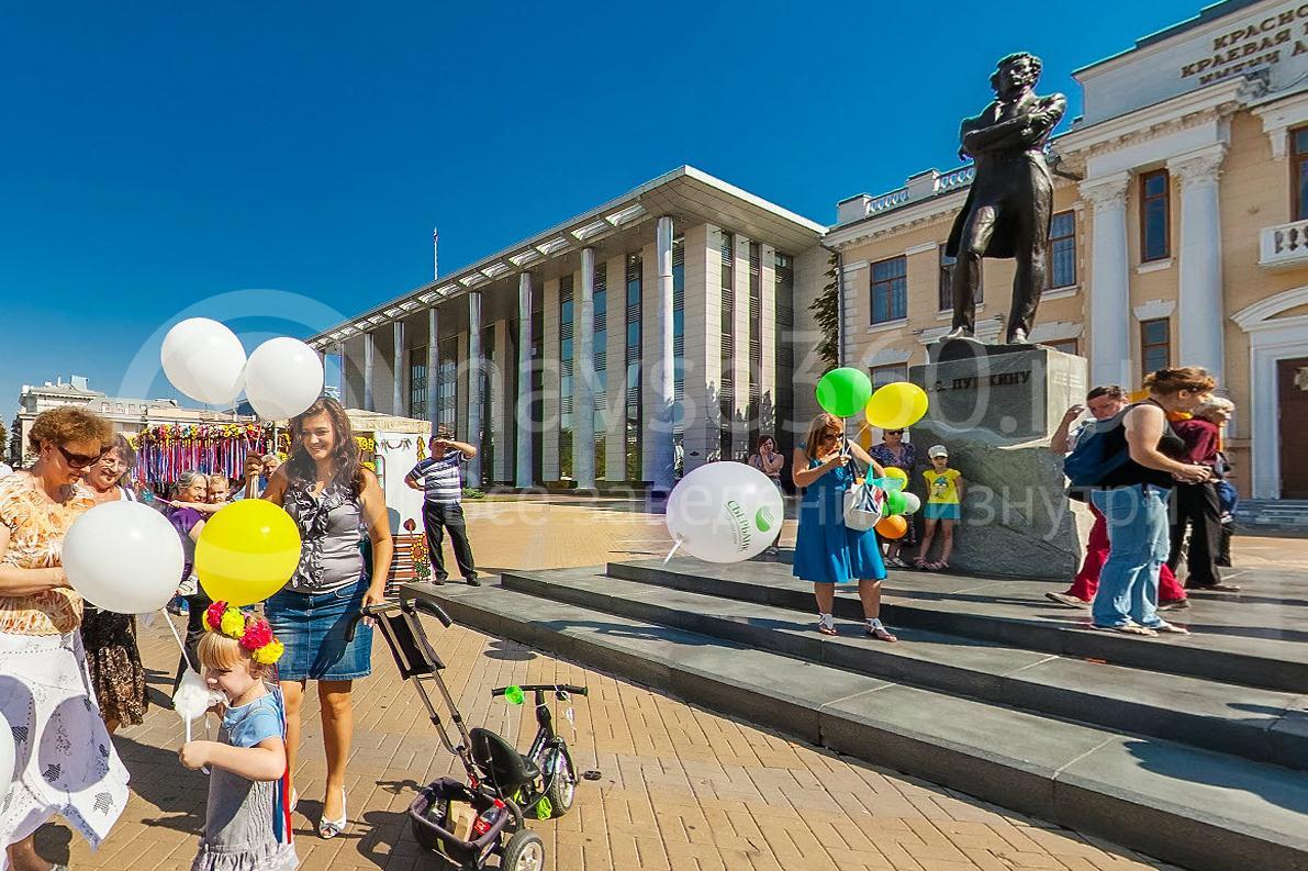 День города Краснодара 2015 г. памятник Пушкину