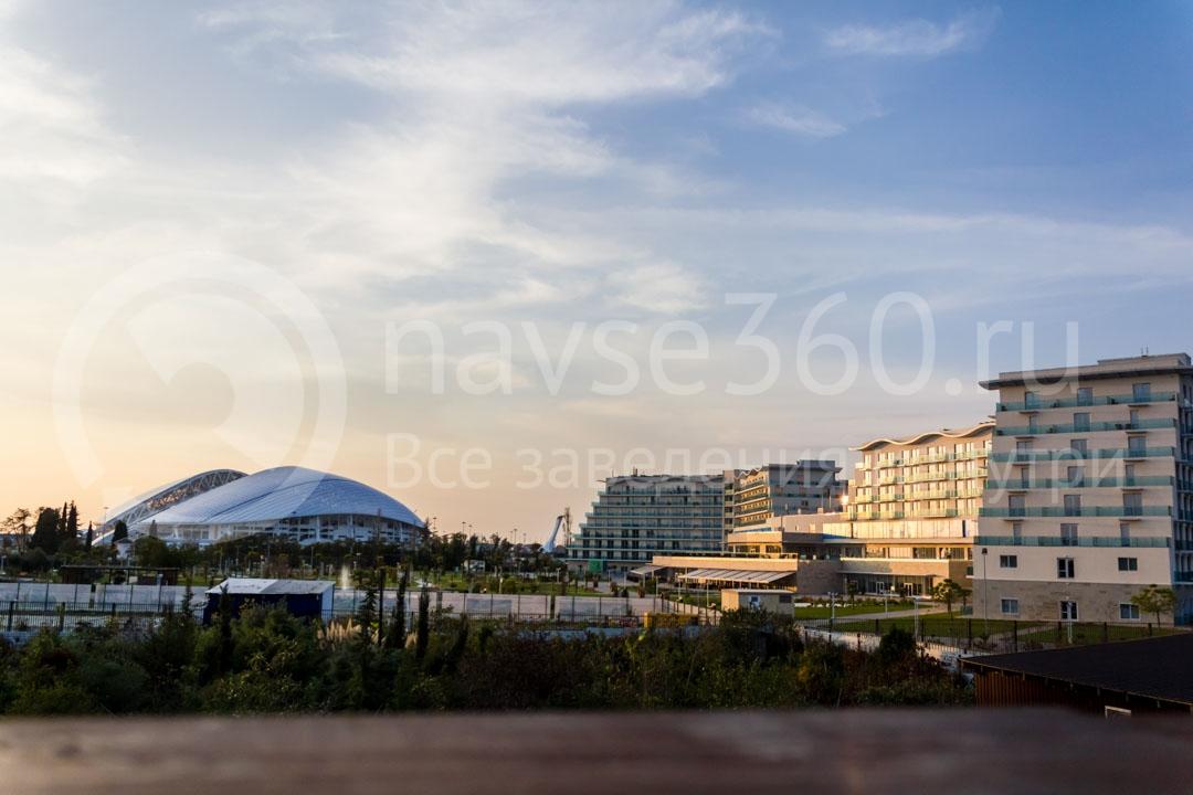 Вид из гостиницы Абрис в Сочи