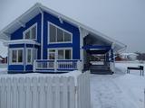 Онтарио, коттеджный поселок. Синий дом