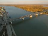 Вид на Новый мост с высоты птичьего полета