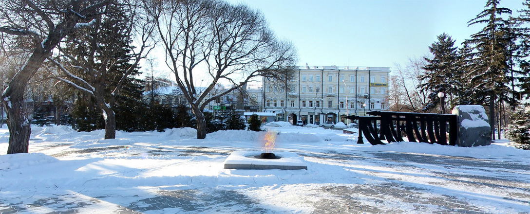 Мемориал вечный огонь по улице Ленина